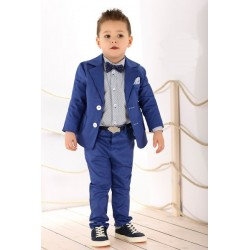 White/Blue Special Occasions Boys Set Style LA033