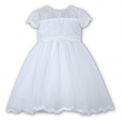 Sarah Louise Christening White Dress Style 070060