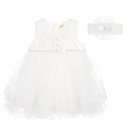Lovely Christening/Special Occasions Dress with Matching headband 123070