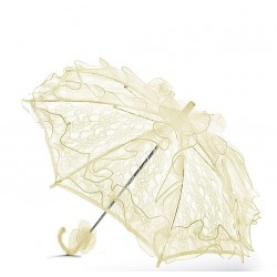 Handmade Ivory Lace Communion/Flower Girl Parasol Happy Hannah Short p10