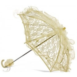 Handmade Ivory Lace Communion/Flower Girl Parasol Happy Hannah Long p07