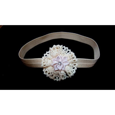 Ivory Christening/Special Occasion Headband Style 13