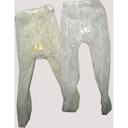 Lovely Christening/Special Occasion Lace & Frill Ivory Tights Style CRW11