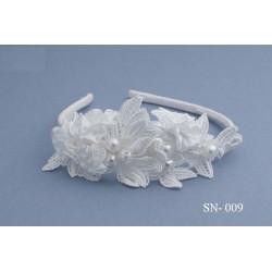 Unique White Communion/Special Occasion Headband style Sn-009