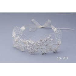 Unusual Ivory Communion/Special Occasion Headband style Sn-203