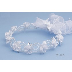 Communion Headpiece with Pearls style w-065
