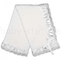 White Lace Baby Christening Shawl 22/6052