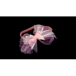 Pink Christening/Special Occasion Headband Style HB-06