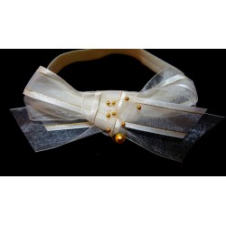 Ivory Christening/Special Occasion Headband Style HB-07