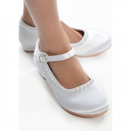 White First Holy Communion Shoes Style BELLA