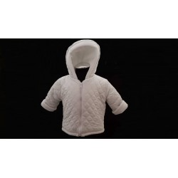 White Fleece Lined Baby Jacket style J01