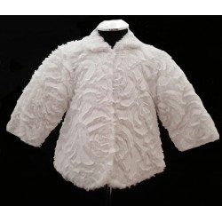 White Faux Fur Baby Girls Christening/Special Occasion Coat style F01