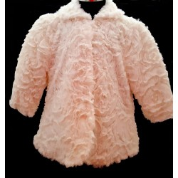 Ivory Faux Fur Baby Girls Christening/Special Occasion Coat style F01