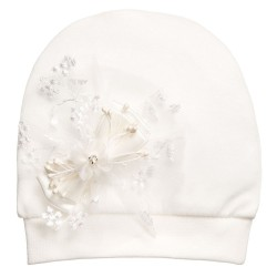 Ivory Baby Girl Hat style Hb6023