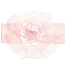 Beautiful Pink Baby Girl Headband style Hb7038p