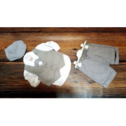 Lovely 6 Pieces Gray/White Outfit for Boys Style 1079