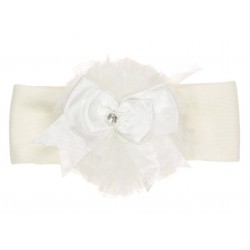 Beautiful Ivory Christening/Baptism Headband Style TUTU