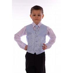 Boys Blue  4 Piece Pageboy Waistcoat Set style Ricardo01