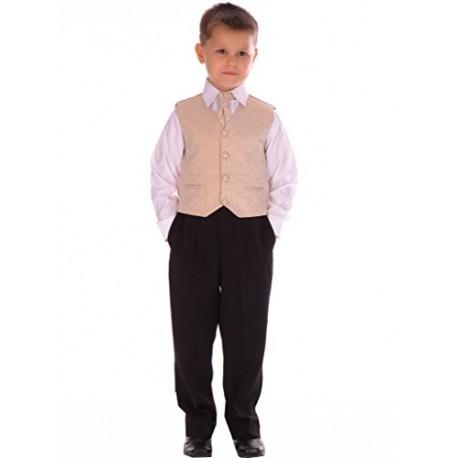 Boys Gold 4 Piece Pageboy Waistcoat Set style Ricardo02