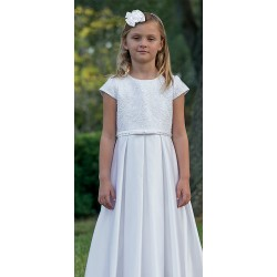Satin Communion Ankle Length Dress Dress by Sarah Louise style 090007
