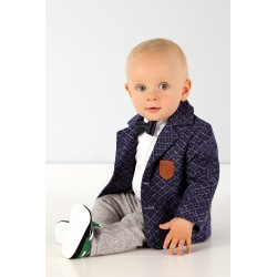 Stylish 4 Pieces Baby Boy Christening/Special Occassion Suit style ES003Navy