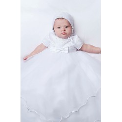 Baby Girls White Ceremony Robe & Bonnet by Sarah Louise Style 001096