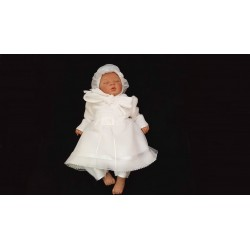 White Fleece Baby Girl Outfit style FL01