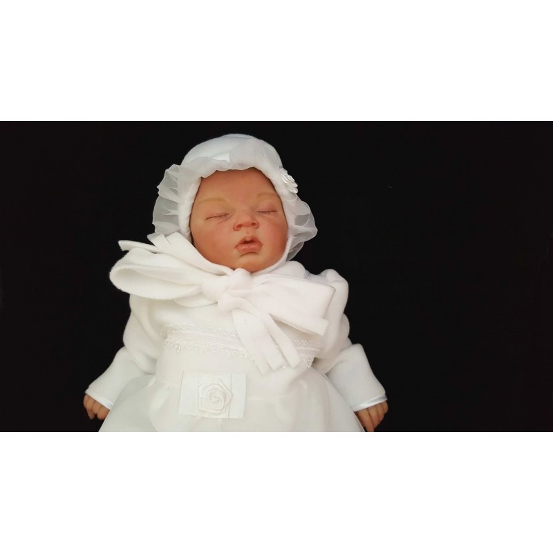 14b6009e964d White Fleece Baby Girl Outfit