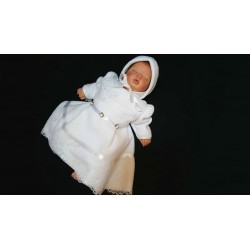 Winter 3 pcs Baby Girl White Outfit style FL02