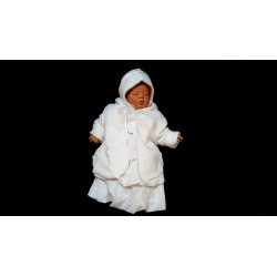 3 pcs White Christening Baby Girl Outfit style Wch01