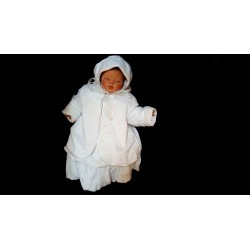 3 pcs White Christening Baby Girl Outfit style Wch02