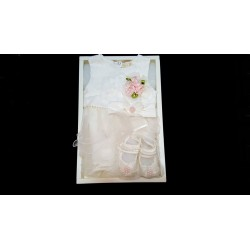 Lovely Ivory 3 pcs Dress Set for Baby Girls in Gift Box style 03633