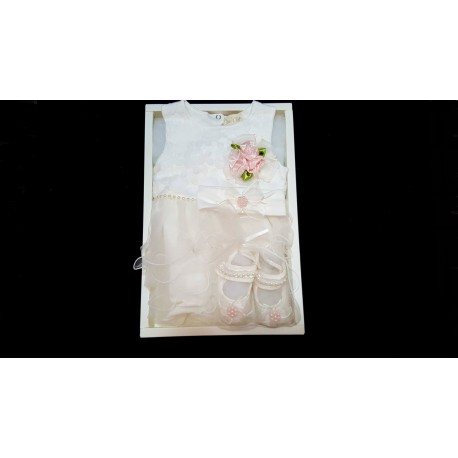 Lovely Ivory 3 pcs Set for Baby Girls in Gift Box style 03633