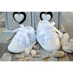 Baby Boys White/Blue Special Occasion Shoes Style STARS