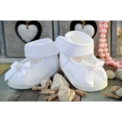 White/Pink Christening/Special Occasion Shoes Style M012