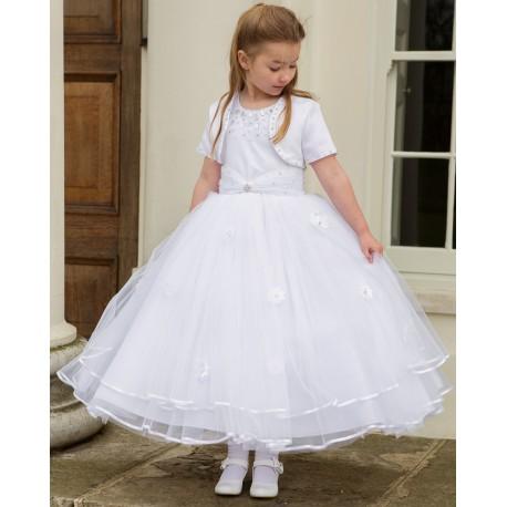 First Holy Communion Ballerina Length Dress with Bolero Style CELINE