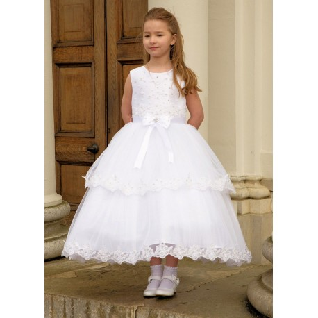 Beautiful Ballerina Length First Holy Communion Dress Style CATHERINA