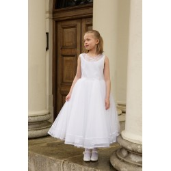 First Holy Communion Ballerina Length Dress Style ADELE