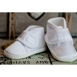 Satin Christening Shoes M081