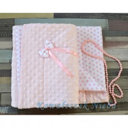 Pink/White Baby Girl Blanket Style PINK HEARTS