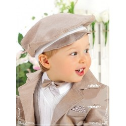 Baby Boys Beige Christening/Special Occasions Hat Style WM721