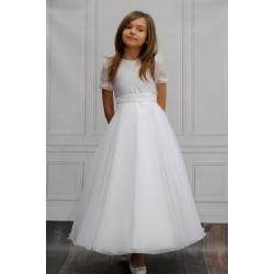 Handmade Satin&Organza Communion Dress and Bag Berenice