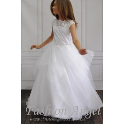 Lace Top Handmade First Holy Communion Dress Style CASANDRA