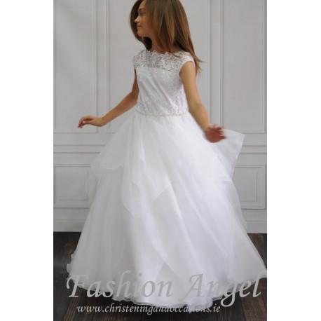Lace Top Handmade First Holy Communion Dress Style CASANDRA