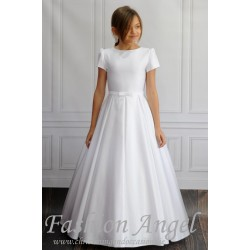 Simple Elegant Handmade First Holy Communion Dress style Demi