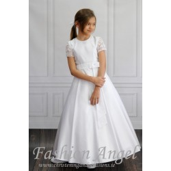 Elegant Mat Satin Communion Dress style Carina