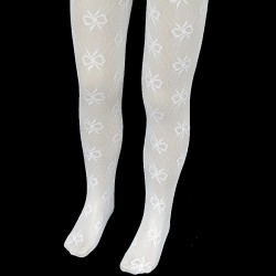 Lace Christening/Special Occasions White Tights Style CRW12
