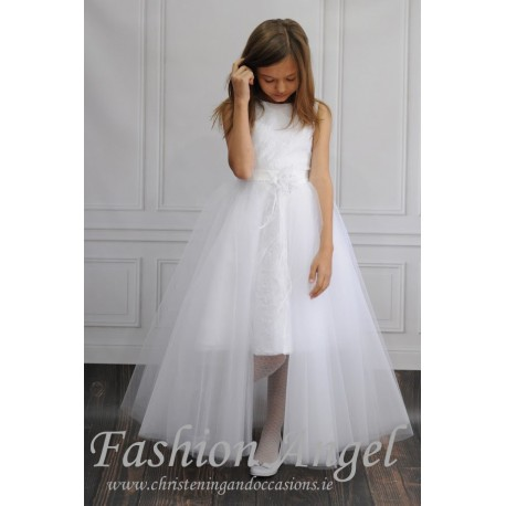 Unusual Ballerina Length Handmade First Holy Communion Dress Style PERLA