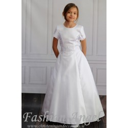 Handmade Satin Floor Length First Holy Communion Dress Style VERA