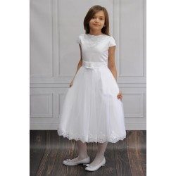 Beautiful Ballerina Length First Holy Communion Dress Style BIANKA